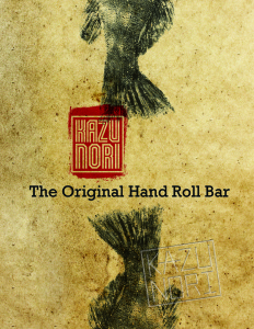 Kazunori - the original hand roll bar